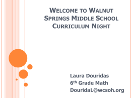 Math Curriculum Night 2014
