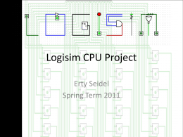 Logisim CPU Project
