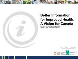 Better Information for Improved Health: A Vision for Canada