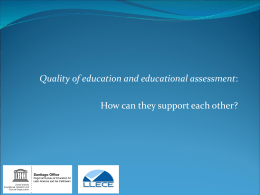 Quality of education and educational assessment