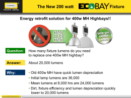 Energy retrofit solution for 400w MH Highbays!!