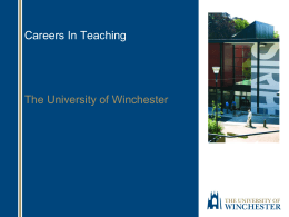 Teaching attributes - University of Winchester