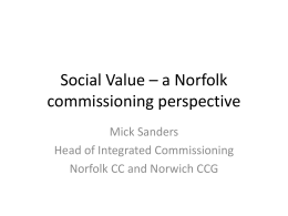 Mick Sanders - Voluntary Norfolk
