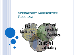 Springport Agriscience Program Powerpoint