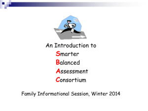 What is the Smarter Balanced Assessment System?