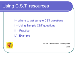 CST Resources