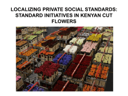 Labour Agency and Private Social Standards in the Cut