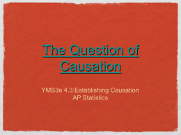 4.3 The question of causation