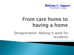 Ian Copeman - Supported Housing in Partnership