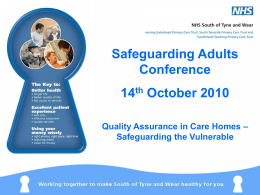 Quality Assurance in Care Homes – Safeguarding the Vulnerable