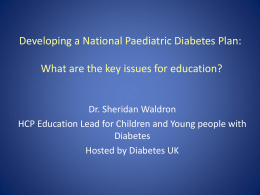 Dr. Sheridan Waldron - The Diabetes Education Network