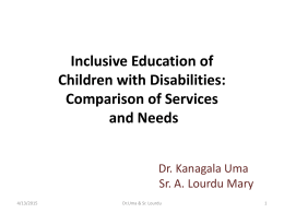 Kanagala Uma_Inclusive education of children with disabilities