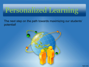 Next Generation Personalized Learning