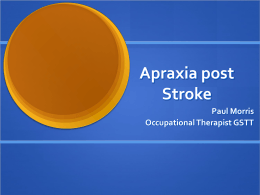 Apraxia post Stroke - the HIEC Stroke Events Website