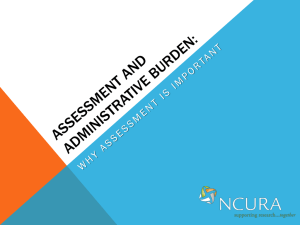 Assessment and administrative burden: