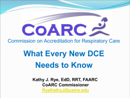 What Every New DCE Needs to Know