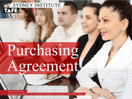 Purchasing agreement