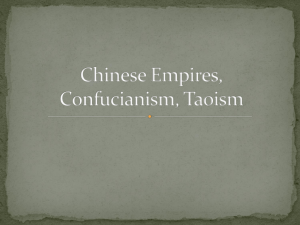 Chinese Empires, Confucianism, Taoism