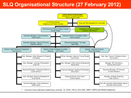 SLQ Org Chart @270212 - State Library of Queensland