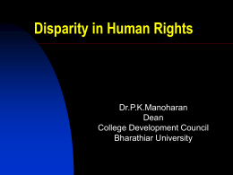 Human Rights - Academic Staff College