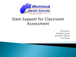 3-Richland Parish - State Support for Classroom