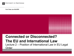 The EU and International Law