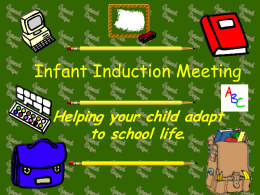Infant Induction Meeting - Scoil na Maighdine Mhuire