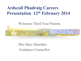Careers Presentation - Ardscoil Phadraig Longford