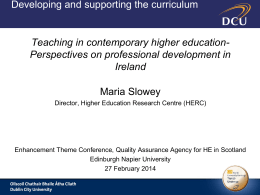Teaching in contemporary higher education