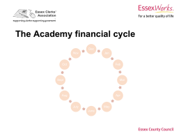 Academies Financial Cycle