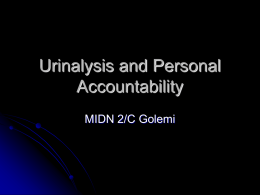 Urinalysis and Personal Accountability