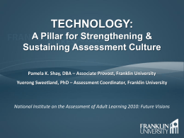 A Pillar for Strengthening And Sustaining Assessment Culture