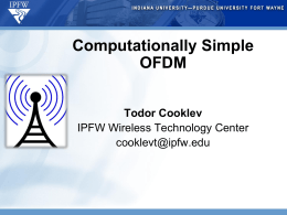 Computationally Simple OFDM