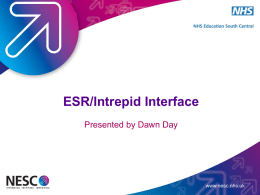 ESR/Intrepid Interface