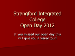 Open Day 2012 - Strangford College