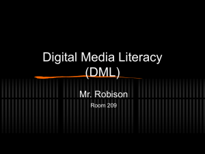 PowerPoint Presentation - Digital Media Literacy (DML)