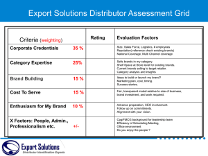 Distributor Assessment Scorecard