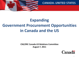 Expanding Government Procurement Opportunities in