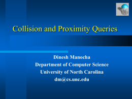 Introduction to Collision and Proximity Queries