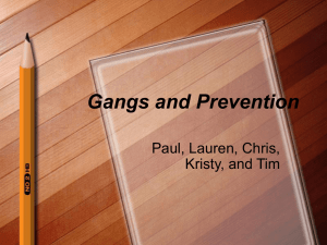 Gangs and Prevention - IT Security Office (ITSO)