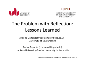 The Problem with Reflection: Lessons Learned