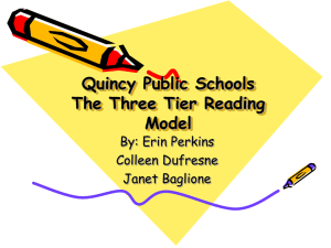 The Three Tier Reading Model