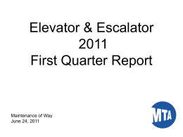 Elevator & Escalator Update