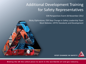 Additional Development Training for Safety Representatives