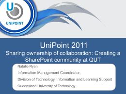 QUT - Natalie Ryan - unipointconference.org