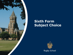 - Rugby School