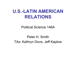 Contemporary US-Latin American Relations