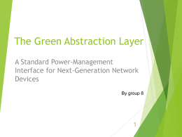 The Green Abstraction Layer