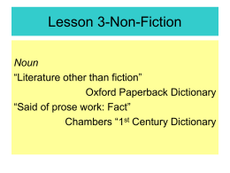 Finding non-fiction using the Dewey Decimal Scheme