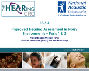 Improved Audiometric Testing In Noise Nov 10